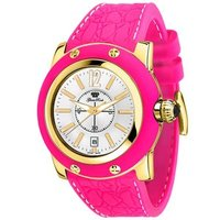 Time Collection Hot Pink Silicone Watch