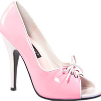 Lace Up Vamp Pump