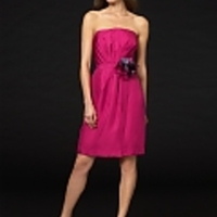 Silk Strapless Dress