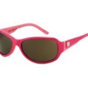 Solglasögon med rosa båge