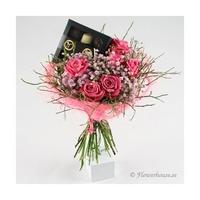 Fina rosa rosor med choklad