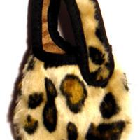 Leopardmönstrad mobilväska