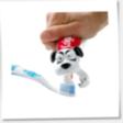 Hundhuvud på tandkrämstuben