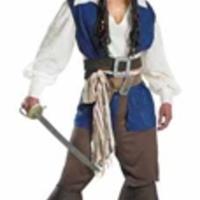 Jack Sparrow-inspirerad piratdräkt