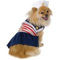 Söt sailor-dräkt för hunden