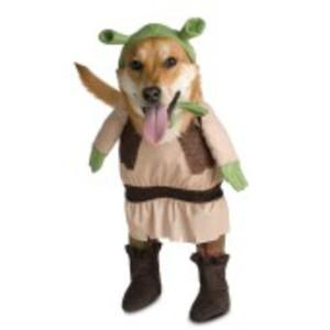 Häftig Shrek-dräkt för hunden