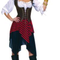 Komplett, sexig piratdräkt