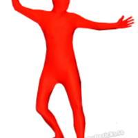 Röd Morphsuit