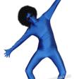 Blå Morphsuit