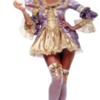 Extremt lyxig Marie Antoinette-dräkt