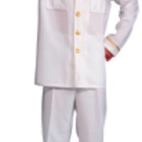 Stilig, vit kaptensjacka