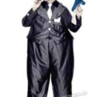 Tjock gangster-dräkt