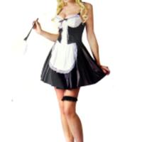 Söt, flirtig maid-klänning