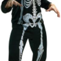 Skrämmande skelett-dräkt