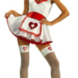 Klänning, sjuksköterska kort