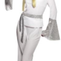 Snygg, vit discodräkt för henne