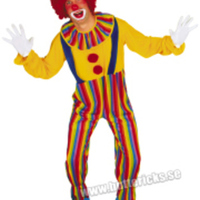 Färgglad clowndräkt