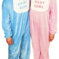 Blå och rosa babydräkter