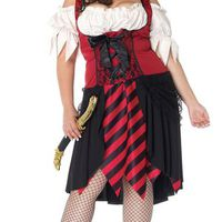 Extremt sexig plus sized pirat-klänning