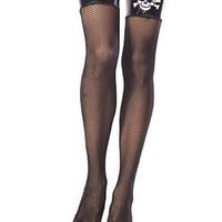 Vrålsexiga stockings i nät med en lack-liknande bord