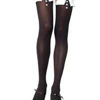 Svarta smoking-inspirerade stockings