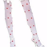 Söta, hjärtmönstrade stockings