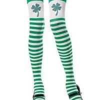 Stockings i grönt och vitt