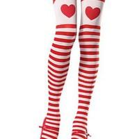 Söta stockings i rosa och rött