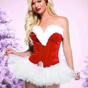 Sexig men söt julkorsett