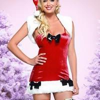 Sexig, detaljerad jul-dräkt