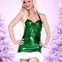 Grön julklänning