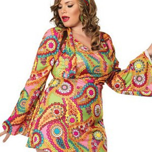 Sexig retro-klänning för plus size-kvinnor