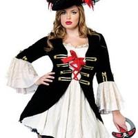 Sexig, plus sized pirat-dräkt