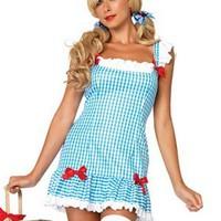 Dorothy från Trollkarlen från Oz-dräkt