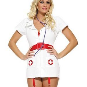 Elegant, sexig sjuksköterska