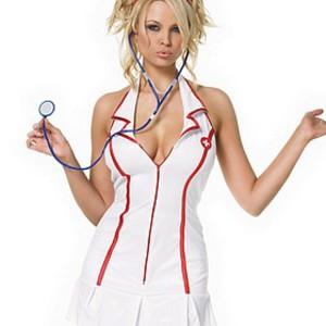 Sexig, förförisk sjuksköterska-dräkt