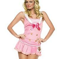 Sailor-inspirerad, söt klänning