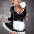 Elegant french maid-dräkt