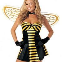 Sexig bi-dräkt med vingar