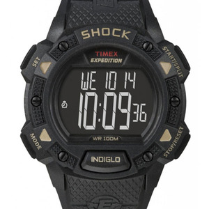 TIMEX EXPEDITION LCD SHOCK CHRONO ALARM TIMER SVART