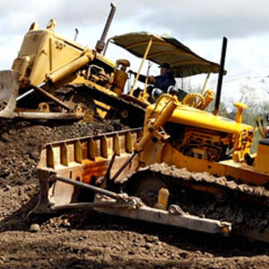 Kör grävmaskin