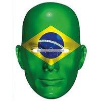 Ansiktsmask brasilianska flaggan